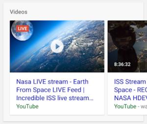 Risultato Google video live streaming