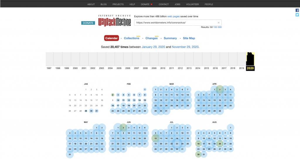 Wayback Machine Preview