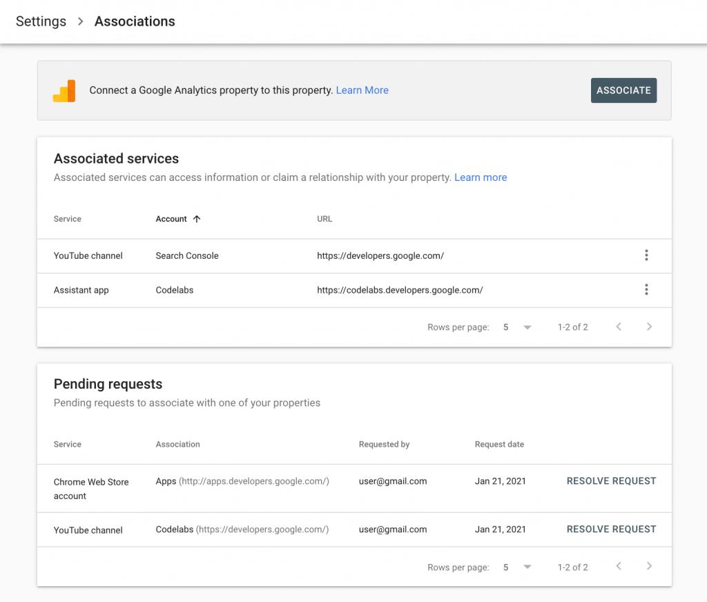 Associazione Search Console